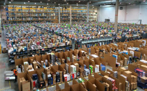 Amazon distribution center.